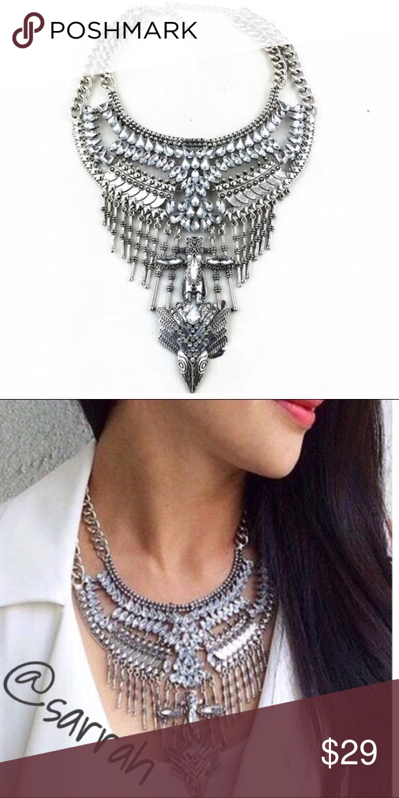 New Gorg Multi Chain Crystal Statement Necklace Boutique | Crystal ...