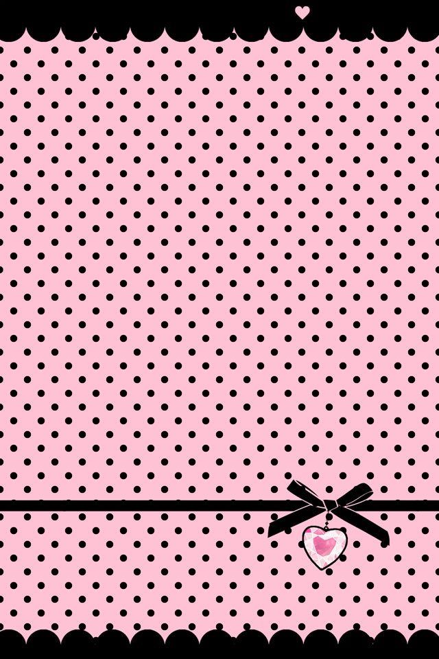 Fondo Rosa Con Lunares Negros Fondo De Pantalla Rosado Para