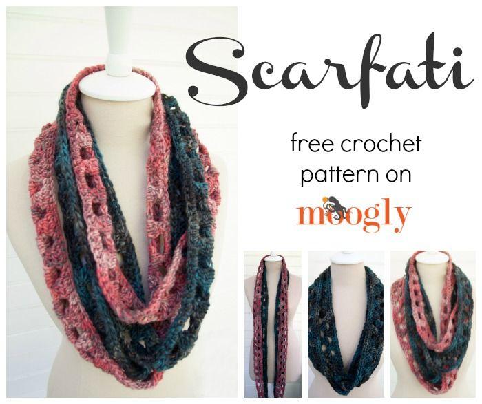 Scarfati: Free #Crochet Pattern on Moogly! | Pinterest | Tejido ...