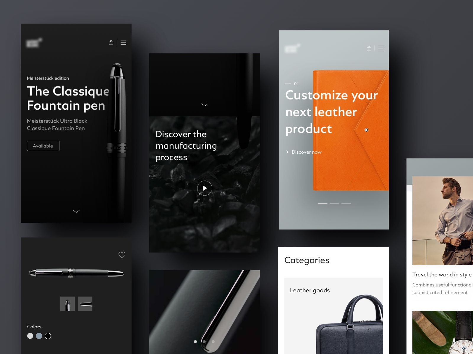 Luxury Shop Mobile Web Ecommerce Website Design Luxury Shop Mobile Web Design