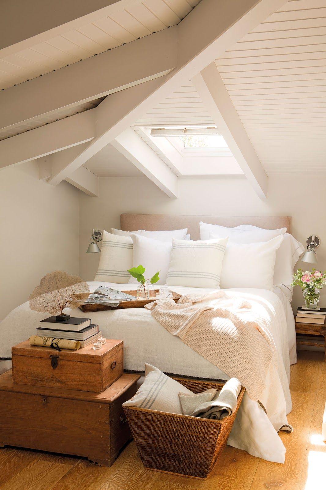Small attic loft bedroom ideas  Aplicando o conceito