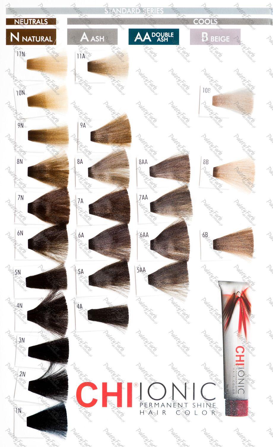 Paleta Farouk Chi Ionic Paleta Kolorow Farb Do Wlosow Hair Color Hair Color Chart Colour Tint