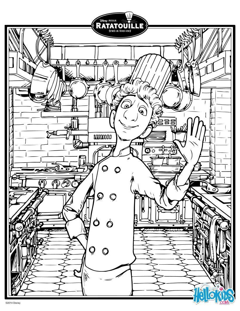 DISNEY coloring pages - Linguini in Ratatouille  Disney coloring