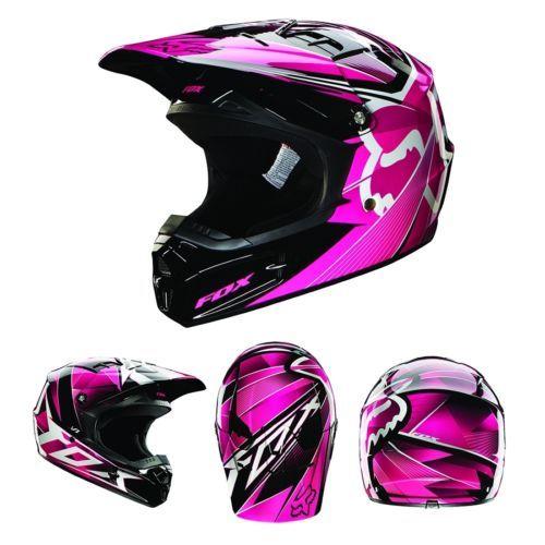 Fox Racing V1 Radeon Helmet Pink Ebay Dirt Bike Gear Fox Racing Dirt Bike Clothing