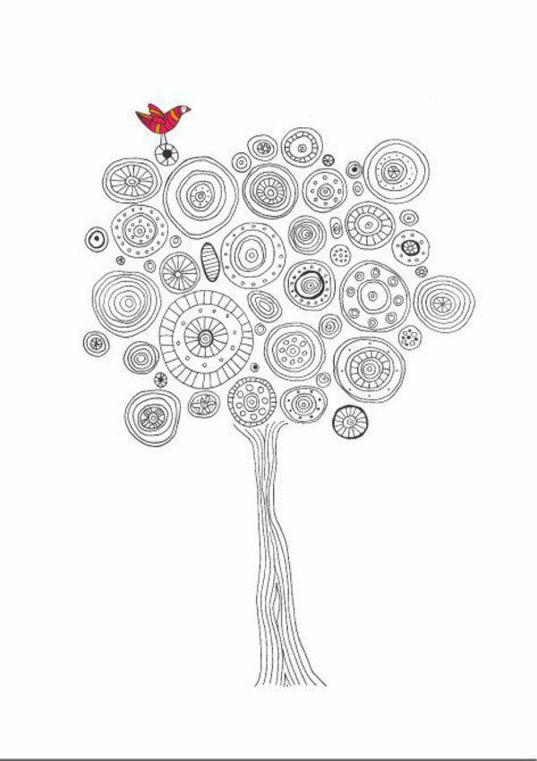 Mandala vorlagen baumkrone design motive papir - Aquarell vorlagen ...