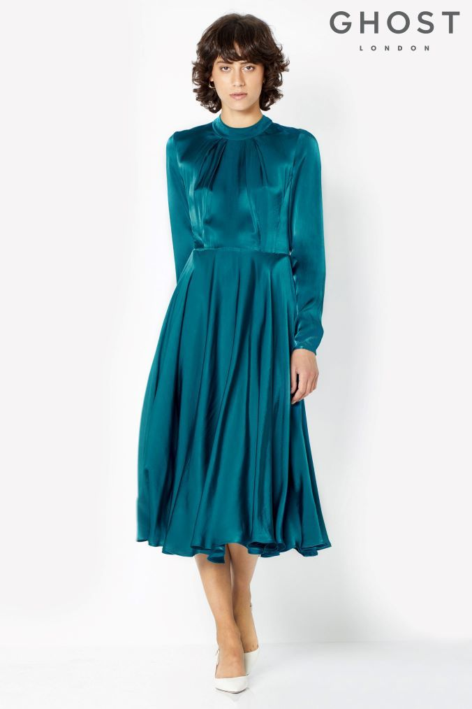 f545d504aac7b Womens Ghost London Peacock Natalie Dress - Blue | Products ...