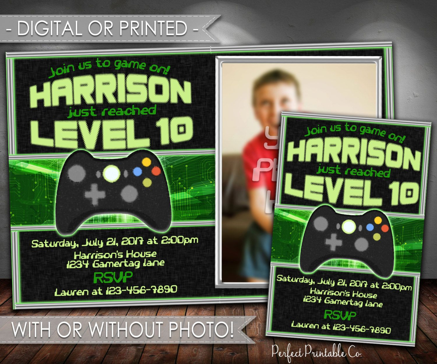 Video Game Invitation Video Game Birthday Invitation Gaming