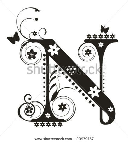 Whimsical Letter N  Stitchery    Whimsical Fonts And