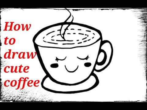 رسم فنجان قهوة كرتون سهل رسم كرتوني سهل للاطفال خطوة خطوة ...