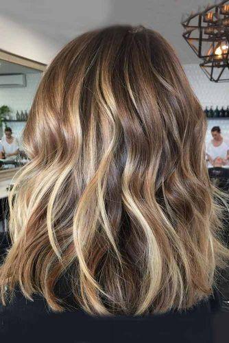 23+ Medium length dark hair with blonde highlights ideas in 2021