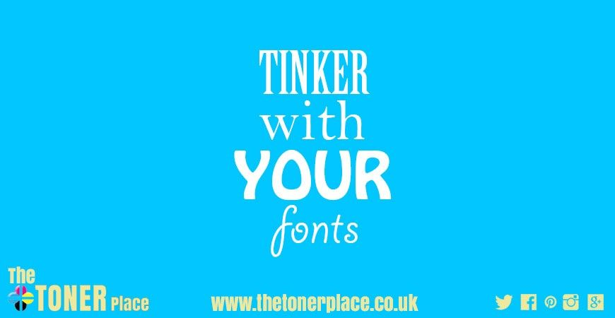 Tinker With Your Fonts