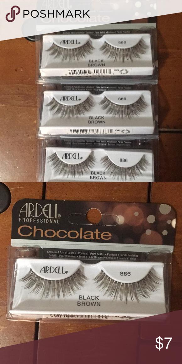 e5d84d3e7c1 🔻Ardell Chocolate Lashes - 886 3 new and unused Ardell Chocolate 886 Lashes  in Black Brown. Ardell Makeup False Eyelashes