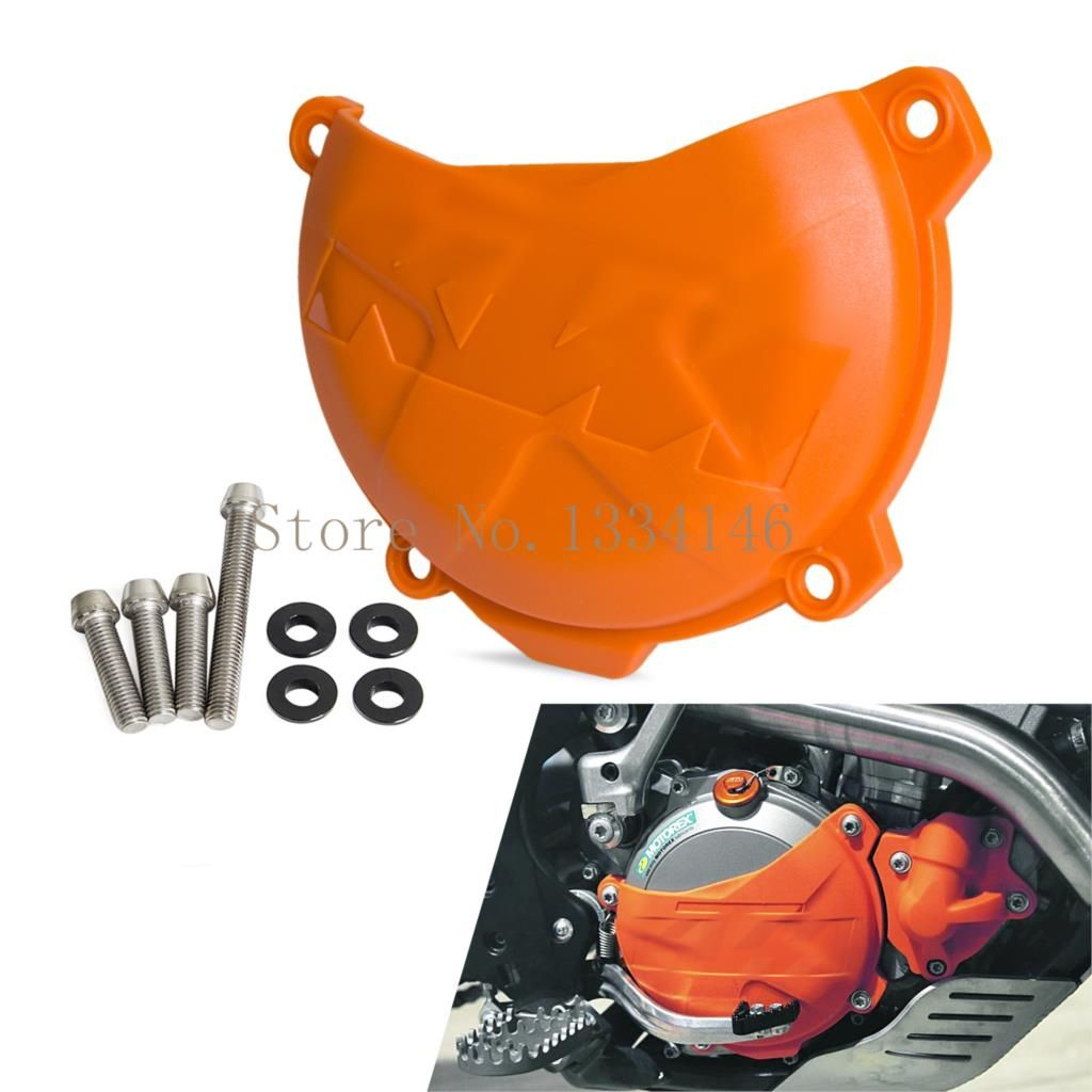 Orange Motorcycle Clutch Cover Protection Cover Fits Ktm 250 Sx F 250 Xc F 350 Xc F 2013 2014 2015 Ktm 250 Ktm 250 Exc Motorcycle Accessories