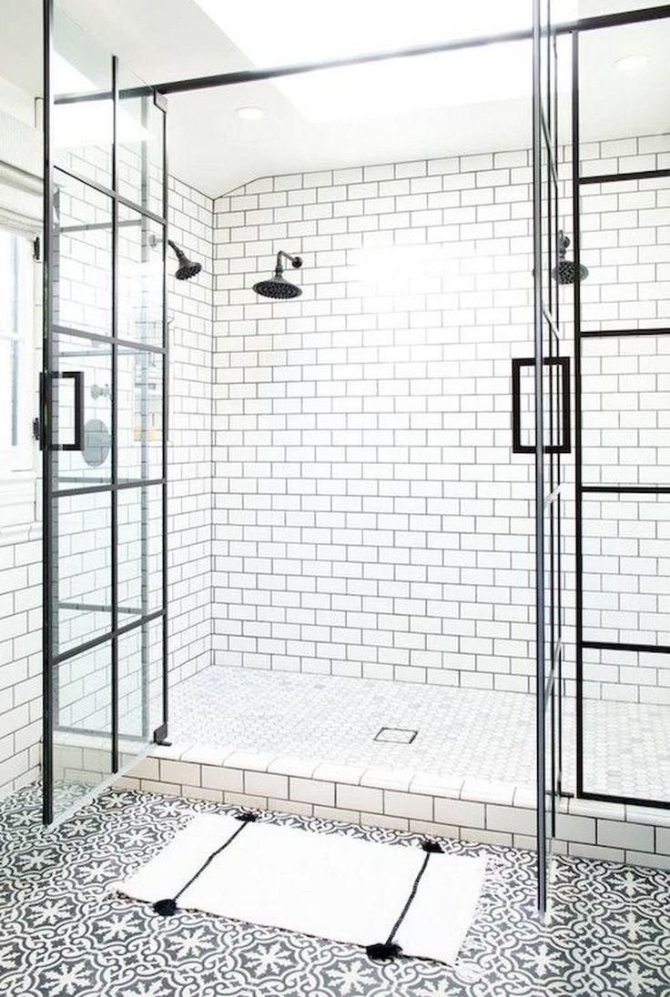 Farmhouse Shower Farmhouse Bathroom Shower Design De Salle De Bain Conceptions De Carrelage Salle De Bains Idee Salle De Bain