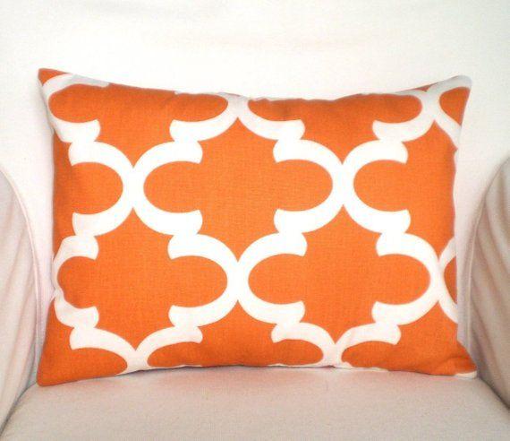 Excellent Orange Lumbar Pillow Covers Decorative Throw Pillows Short Links Chair Design For Home Short Linksinfo
