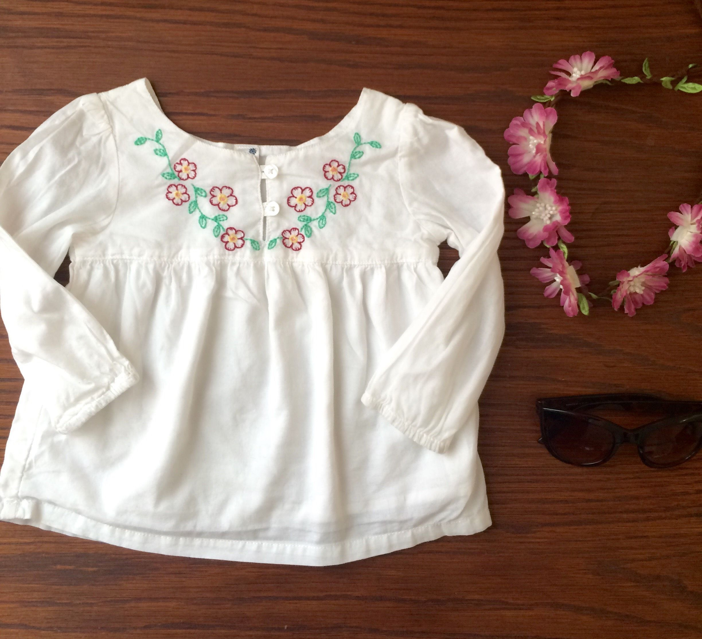 Check out this listing on Kidizen: White Boho Top With Floral Embroidery via @kidizen #shopkidizen