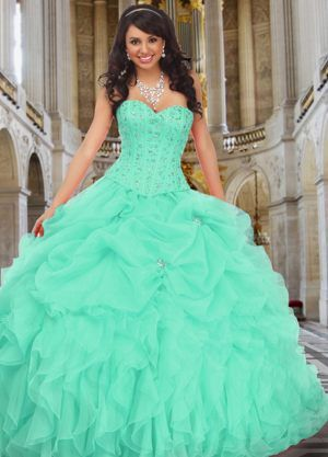 turquoise quinceanera dresses outside | Turquoise Quinceanera ...