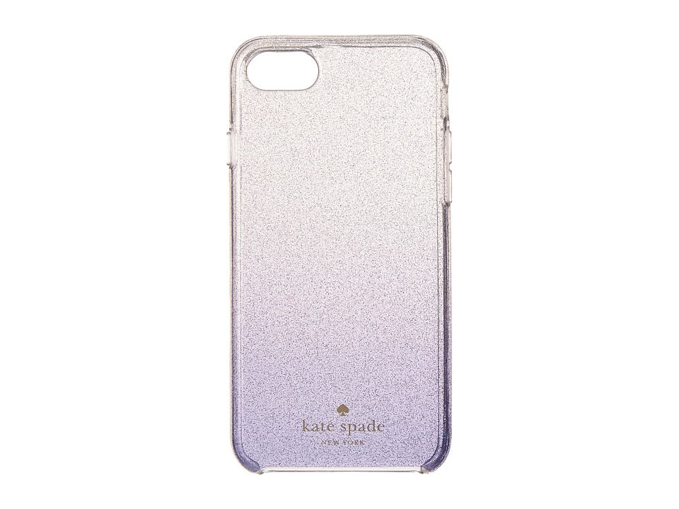 KATE SPADE KATE SPADE NEW YORK - CLEAR GLITTER OMBRE PHONE CASE FOR IPHONE(R) 7 (NIGHTLIFE BLUE) CELL PHONE CAS. #katespade #