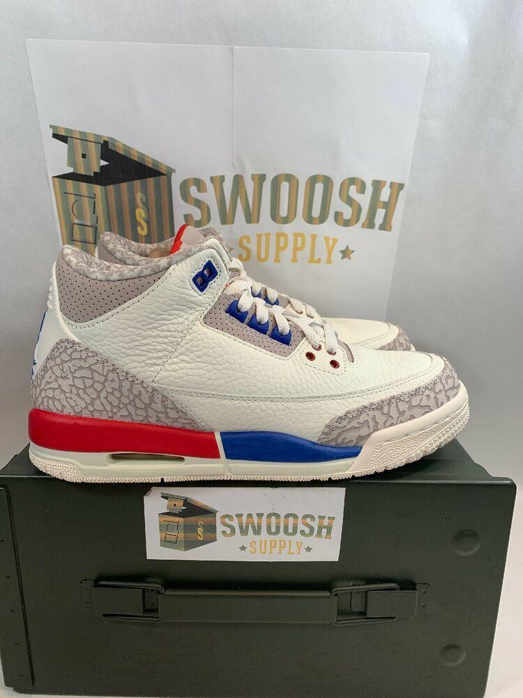 ce0bc25394e2 Nike Air Jordan 3 Retro GS SZ 6Y International Flight USA OG 398614-140   Jordan  BasketballShoes