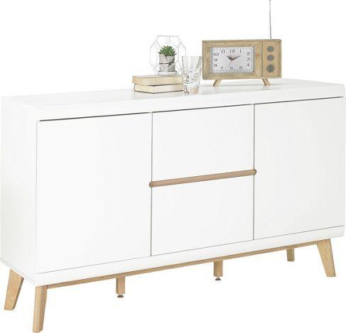Ambia Home Sideboard In Weiss Und Eichefarben Liegt Im Trend