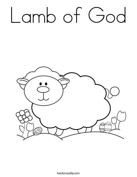 Lamb of God Coloring Page - Twisty Noodle   Jr church   Pinterest