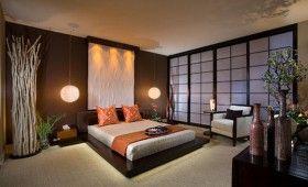 Chambre déco japonaise avec parois japonaises ... | Rideaux ...