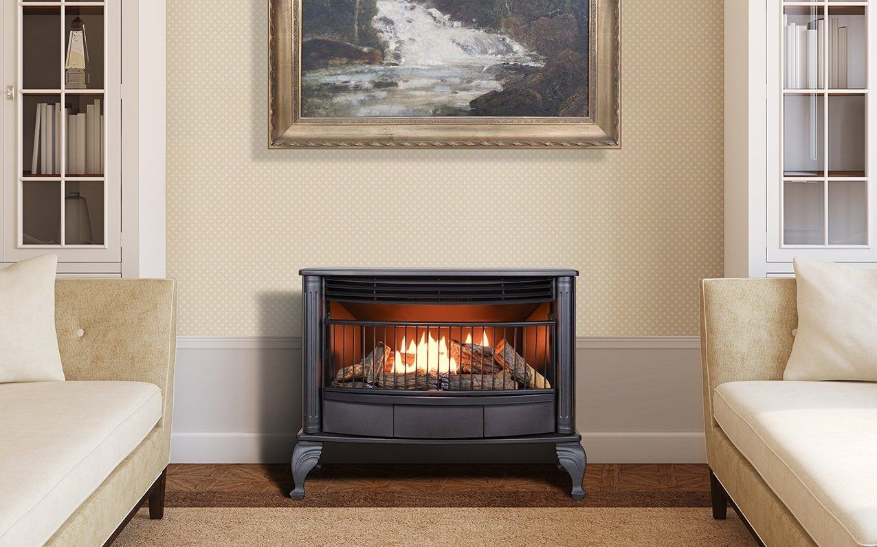 free standing ventless gas fireplace Fireplace, Gas