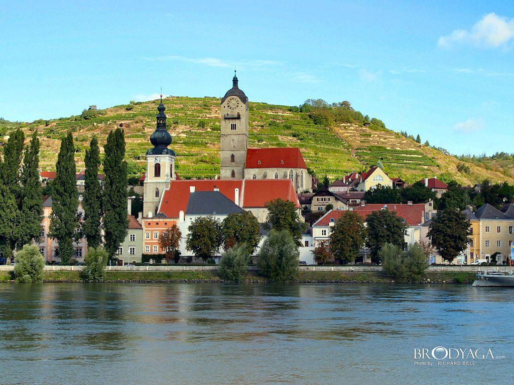 Krems, Austria. Near Melk. Photo credit: Richard Bell.  Decent white wines.