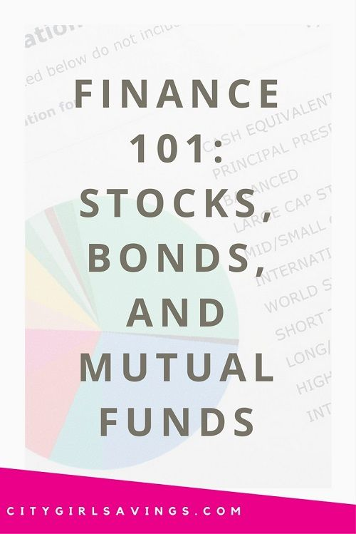 Finance 101 Investment Types Bonds Stocks Mutual Funds