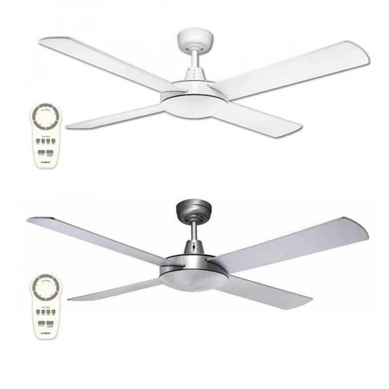 Lifestyle Dc 52 1300mm Ceiling Fan Only Brushed Aluminium