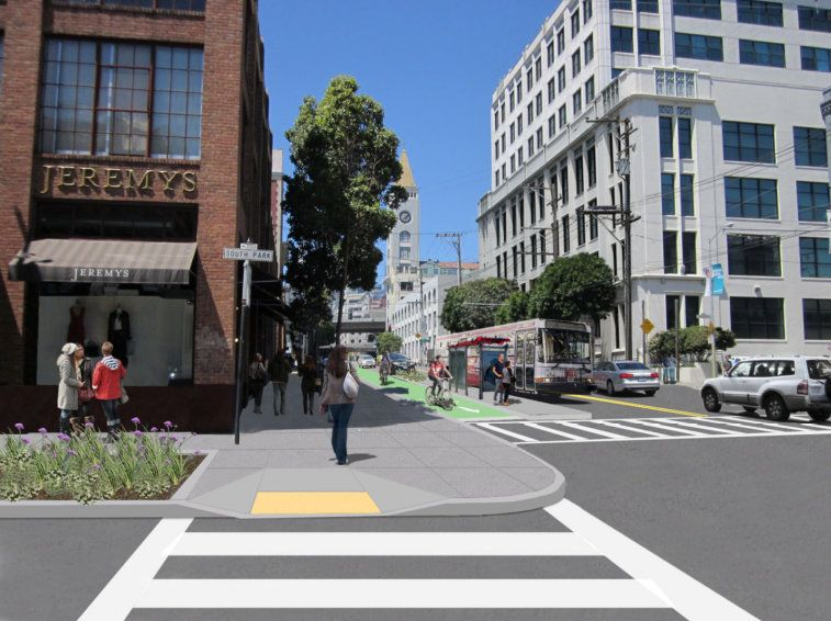 Details on 2nd Street Protected Bike Lanes, Ped Upgrades Come Into Focus   Streetsblog San Francisco