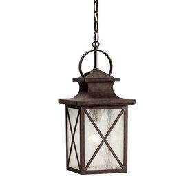 Kichler Lighting Haven 1717In Olde Brick Outdoor Pendant Light Alluring Kitchen Lighting Lowes 2018