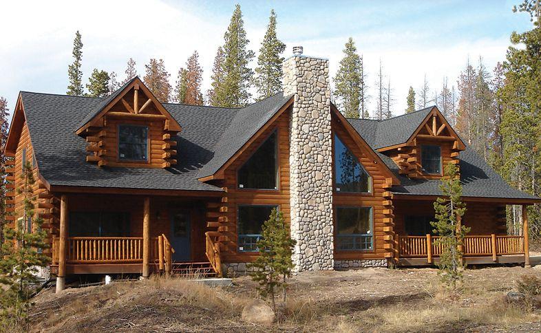 log house building catalog Torreys Peak 3308 sf projects