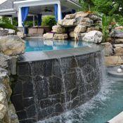 Landscape Masonary Supplies Featured Project Wyckoff Nj Pool Coping Decorative Gravel Backyard Design