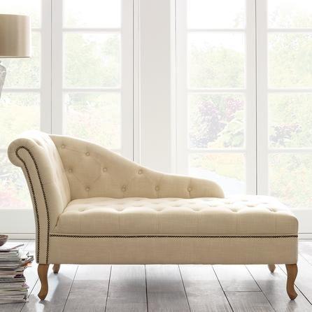 cream collette chaise longue downton dunelm decor