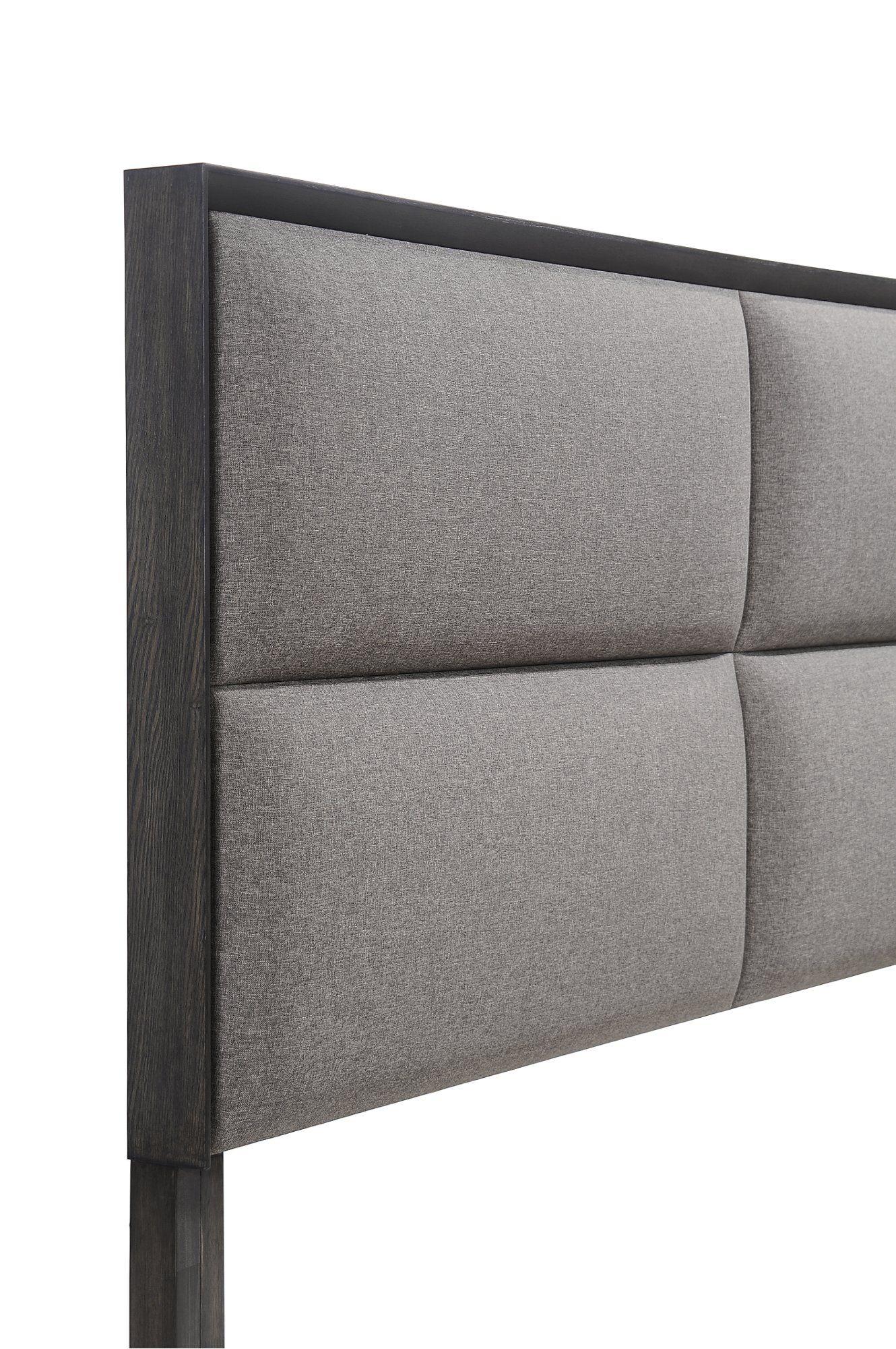 Best Contemporary Ash Gray 4 Piece Queen Bedroom Set Florian 640 x 480