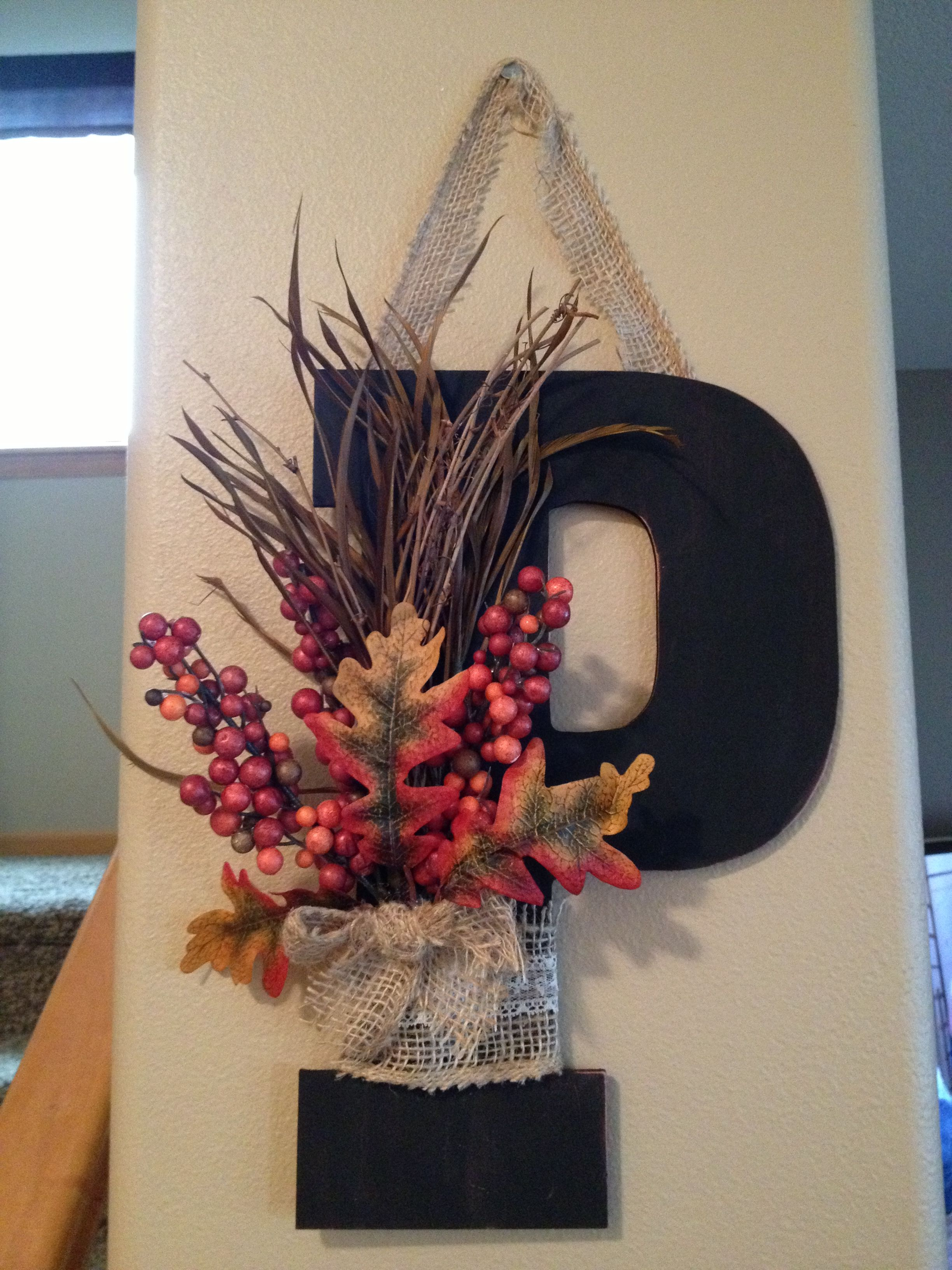 Fall Letter Decor Decorative Letters Letter A Crafts Crafts