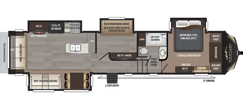 Montana high country 370br floorplan fifth wheels pinterest montana high country 370br floorplan swarovskicordoba Image collections