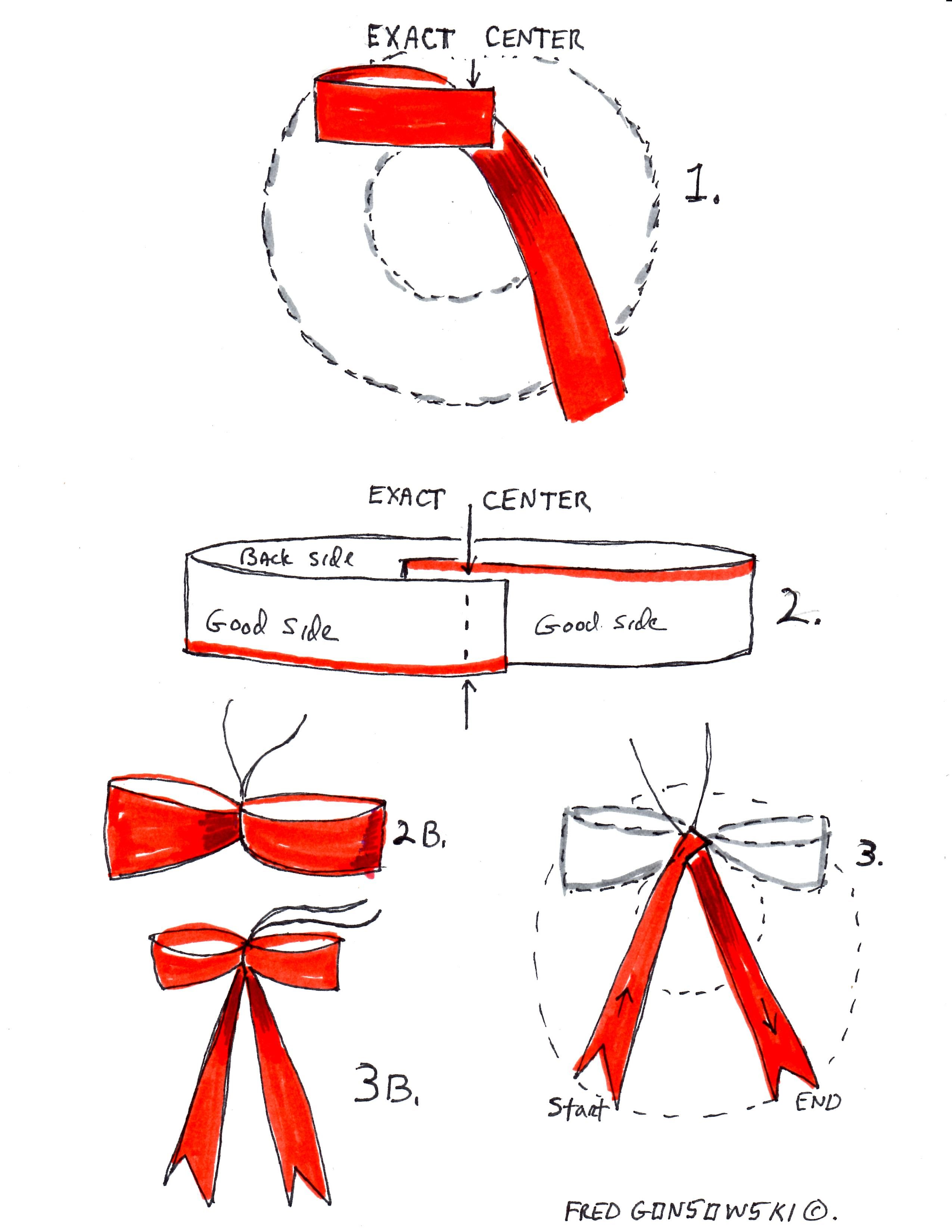 How to make an easy NO tie Bow for your Christmas Wreath ...