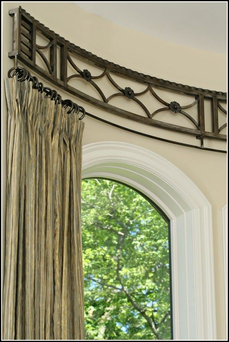 Curved curtain rod for bay window curtains home