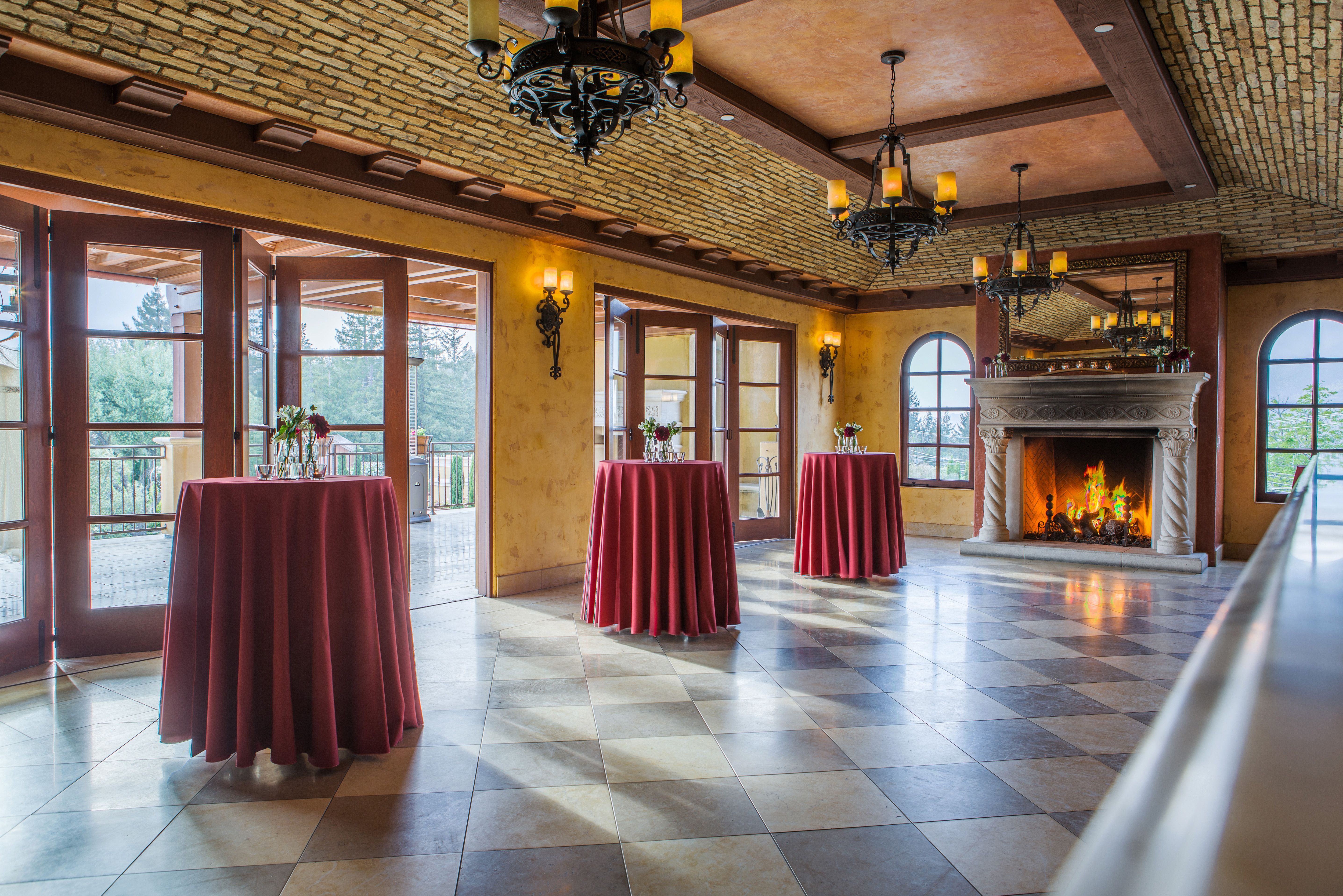 Weddings at Regale Winery Barrel room, Wine country