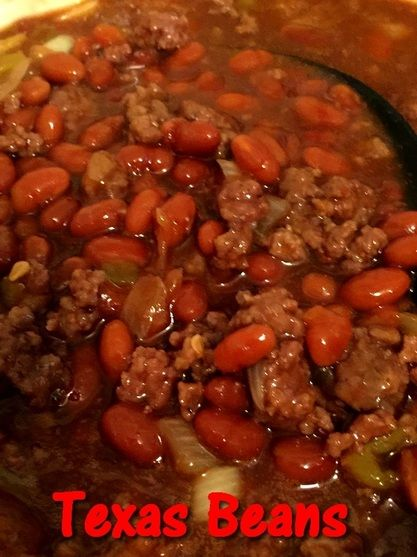 Texas Beans  http://www.momspantrykitchen.com/texas-beans.html