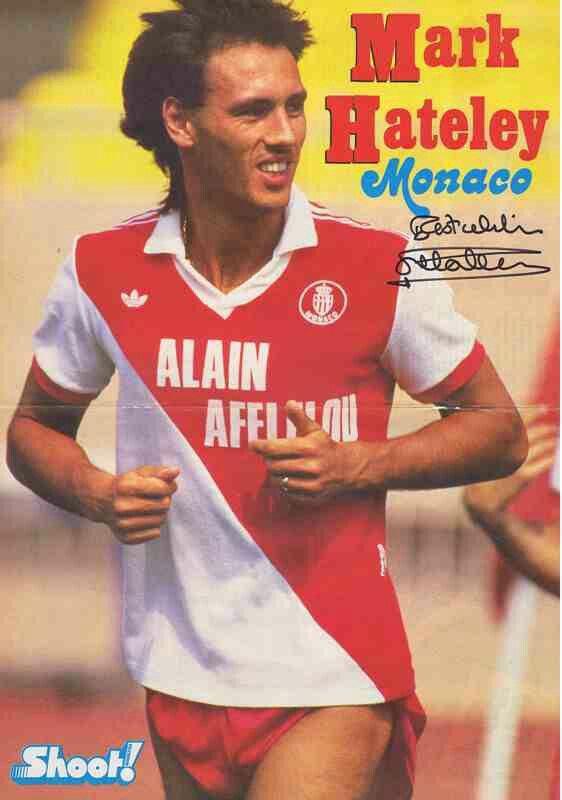 Mark Hateley of AS Monaco in 1987.