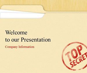top secret powerpoint template is a free ppt template for, Presentation templates