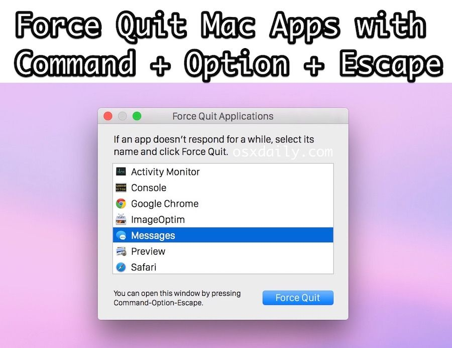 6 ways to force quit mac applications mac application