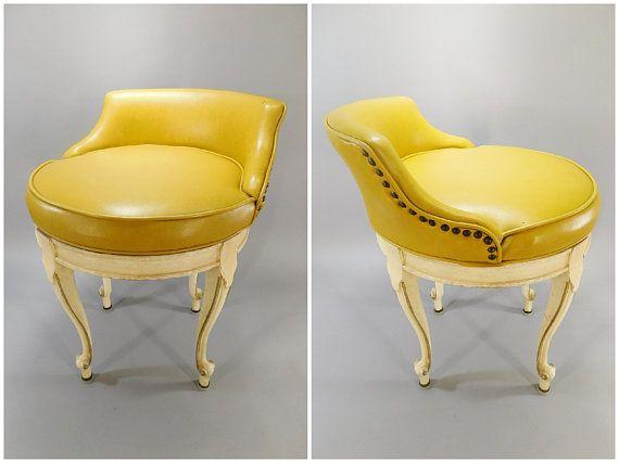 Prime 1950S Vintage Swiveling Vanity Stool French Provincial Ibusinesslaw Wood Chair Design Ideas Ibusinesslaworg