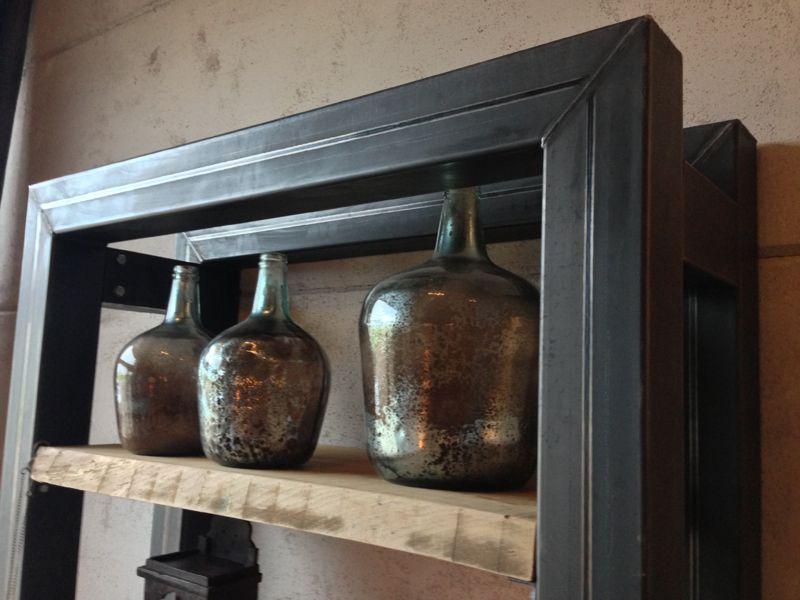 stoere kast met staal en hout bij molitli interieurmakers