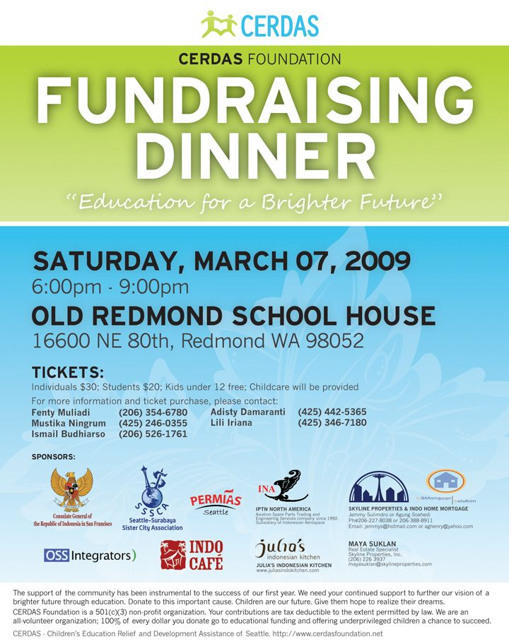 Including Sponsors On Flyer  Mwcp Fundraiser
