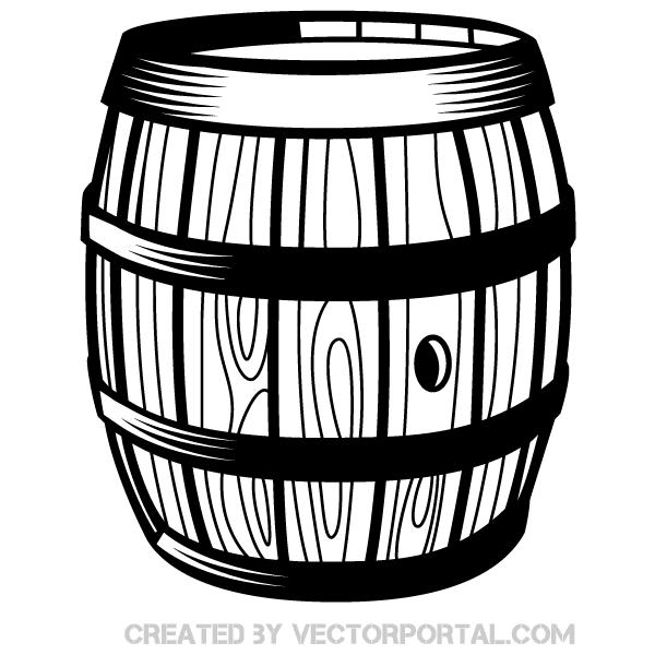 Wooden Barrel Vector Art Wooden Barrel Vector Art Barrel