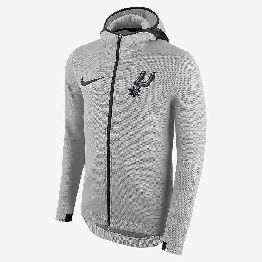 San Antonio Spurs Nike Therma Flex Showtime Men S Nba Hoodie Full Zip Hoodie Nike Men Hoodies